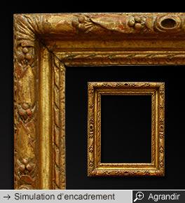 cadre-bois-sculpte-dore-or