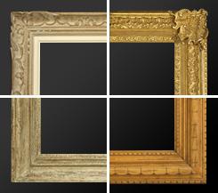 Cadres anciens encadrement ancien cadre tableau - Encadrement bois pour miroir ...